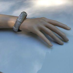 Judith Ripka Sterling Cuff Bracelet
